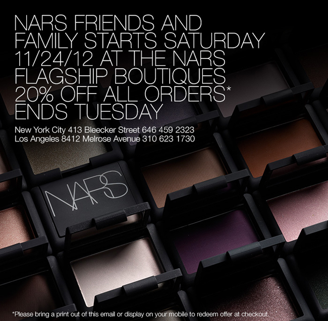 NARS Friends and Family Boutique at Belle Belle Beauty