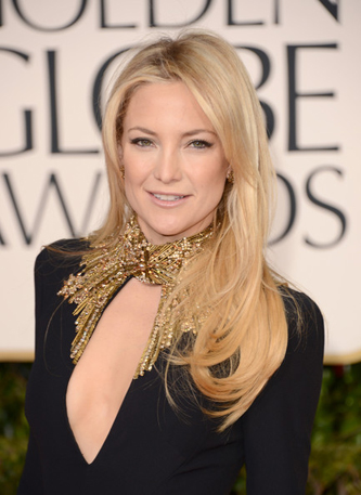 Kate Hudson at the Golden Globes // Belle Belle Beauty