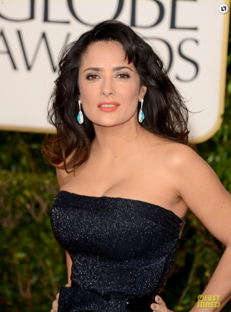 Salma Hayek at the Golden Globes // Belle Belle Beauty