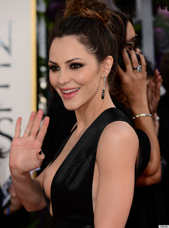 Katherine McPhee at the Golden Globes // Belle Belle Beauty