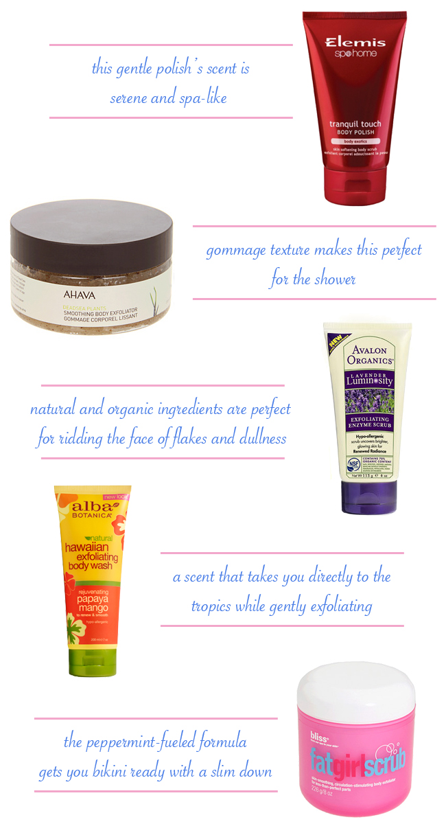Five Favorite Scrubs for Spring // Belle Belle Beauty