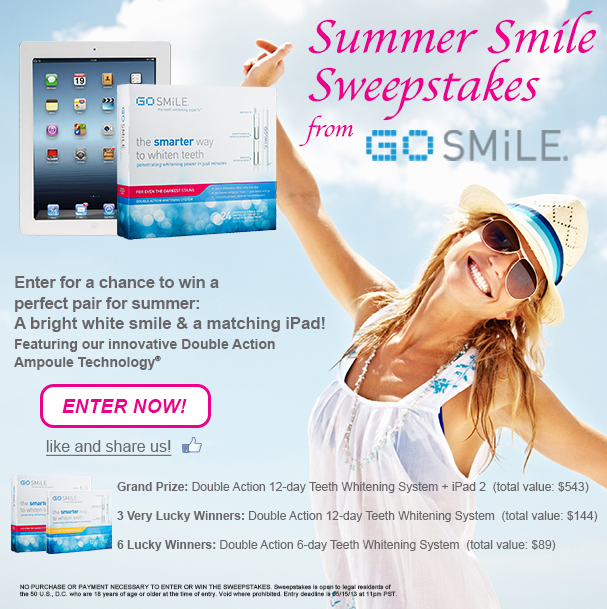 Summer Smile Sweepstakes from GO SMiLE // Belle Belle Beauty
