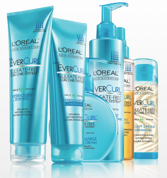 L'Oréal Paris EverCurl Sulfate-Free Curl Care System and GIVEAWAY // Belle Belle Beauty