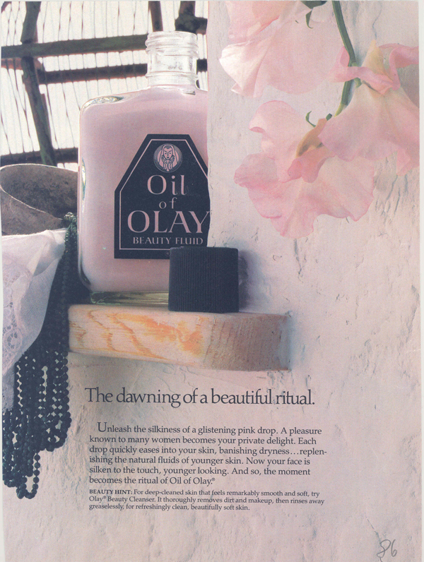 1986 Olay ad - Dawning of a Beautiful Ritual // Belle Belle Beauty