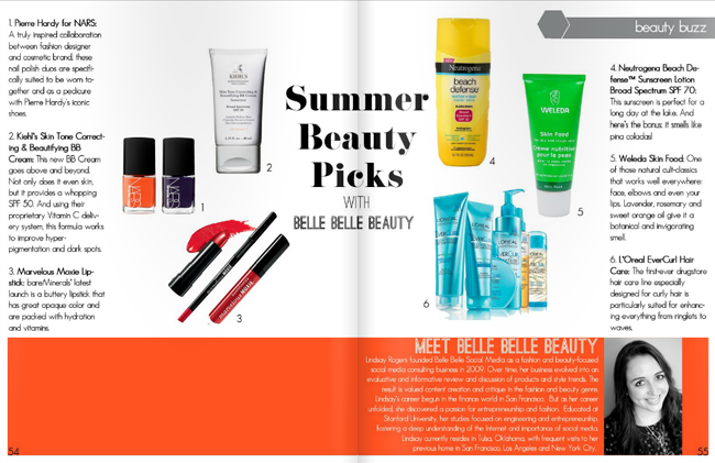 Prairie Hive Summer Issue - Summer Beauty Picks // Belle Belle Beauty