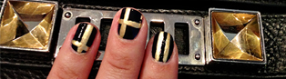 Thumbnail image for Metallic and Navy Graphic Nails and ManiCure Pinterest Sweepstakes with Suave and Q-tips!