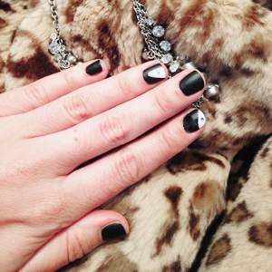 Blinged Out Matte Black Nails Final Look // Belle Belle Beauty