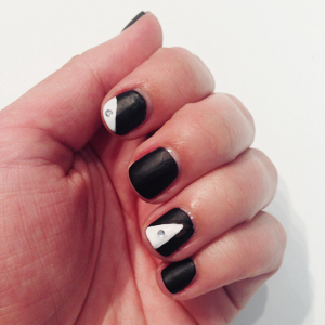 Blinged Out Matte Black Nails Black Tie // Belle Belle Beauty