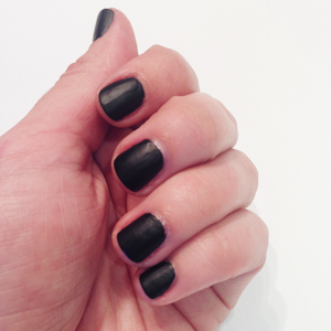 Blinged Out Matte Black Nails Matte Base // Belle Belle Beauty
