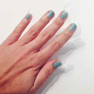 Matte and Gold Accents on Robin Egg Blue Nails // Belle Belle Beauty