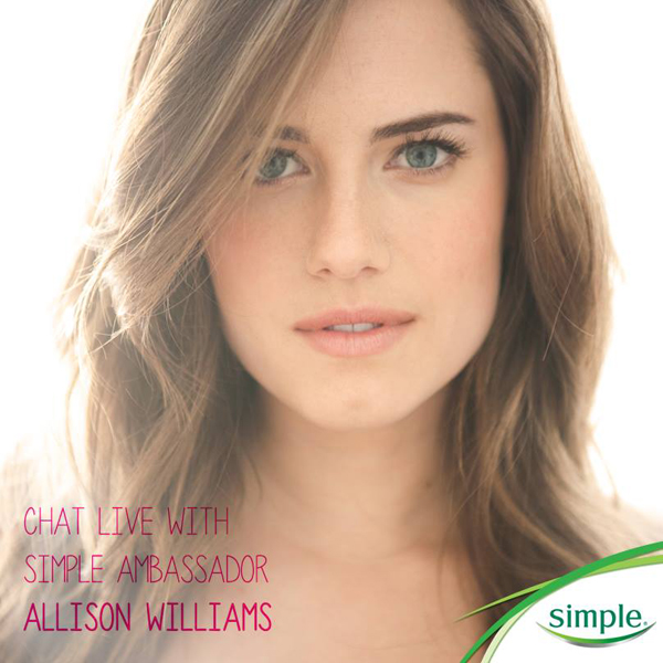 Live Twitter Chat with Allison Williams and Simple Skincare // Belle Belle Beauty