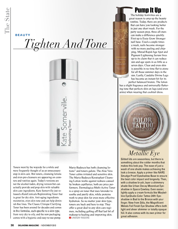 Oklahoma Magazine - November Issue // Belle Belle Beauty