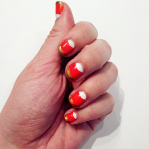Final Look Candy Corn Nails // Belle Belle Beauty
