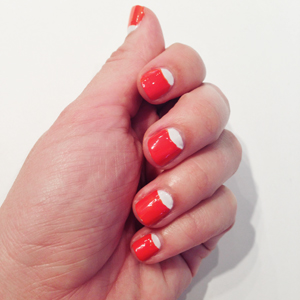 Orange Tips Candy Corn Nails // Belle Belle Beauty