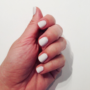White Base Candy Corn Nails // Belle Belle Beauty
