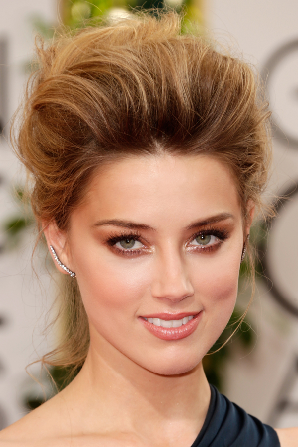 Amber Heard at the Golden Globes on Belle Belle Beauty