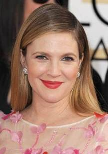 Drew Barrymore at The Golden Globes on Belle Belle Beauty
