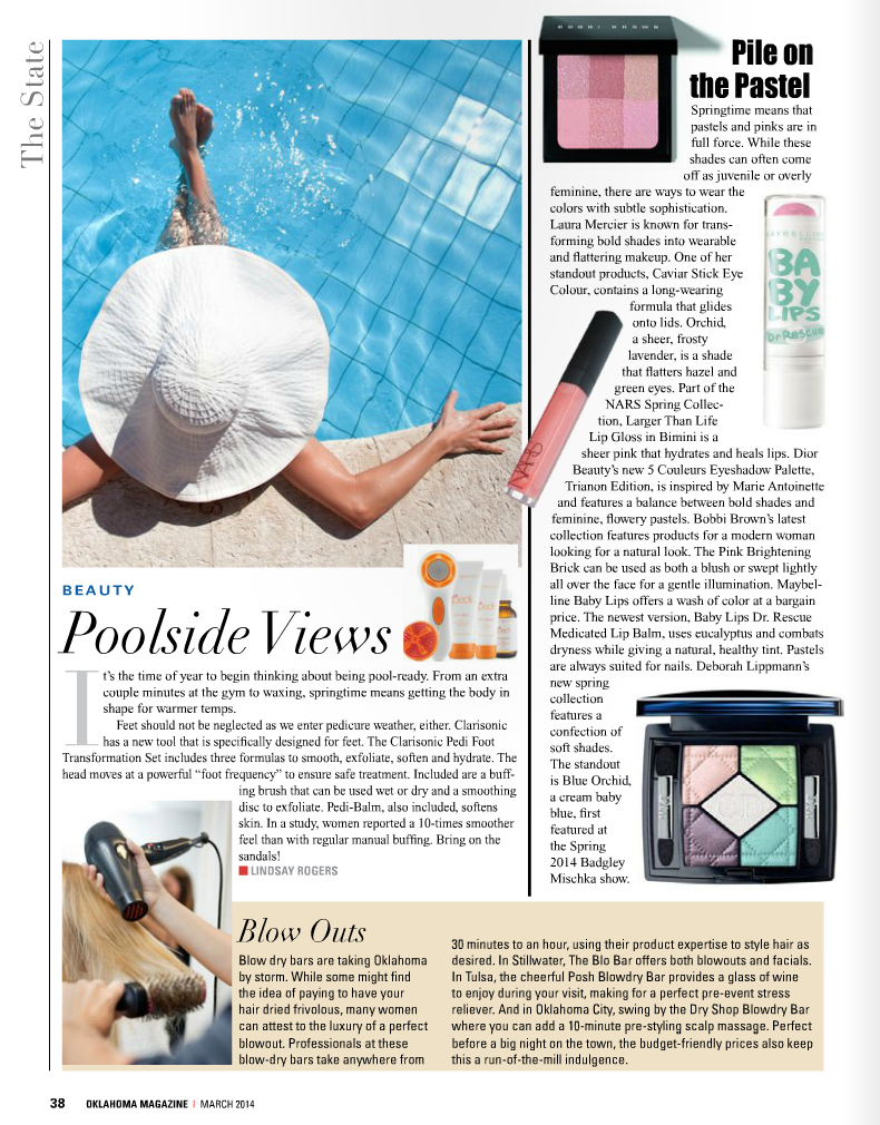 March's Oklahoma Magazine on Belle Belle Beauty