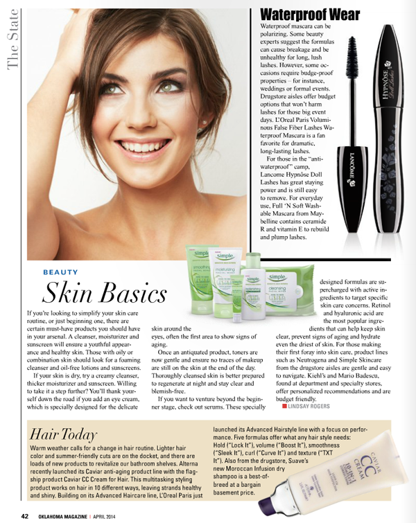 Oklahoma Magazine April Column on Belle Belle Beauty