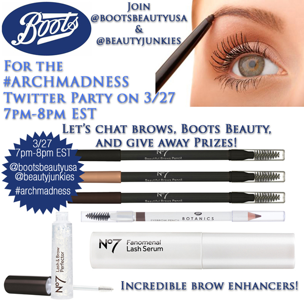 Boots #ArchMadness Twitter Party on Belle Belle Beauty