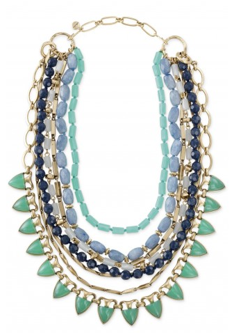 Sutton Necklace in Blue/Green on Belle Belle Beauty