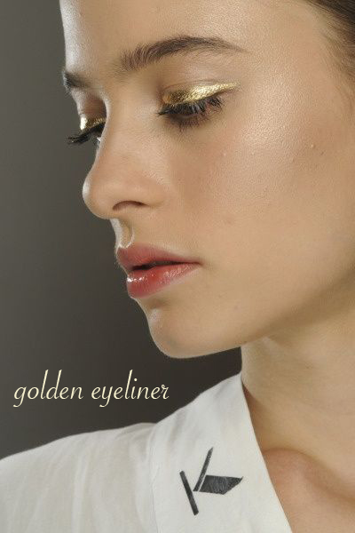Golden Eyeliner on Belle Belle Beauty