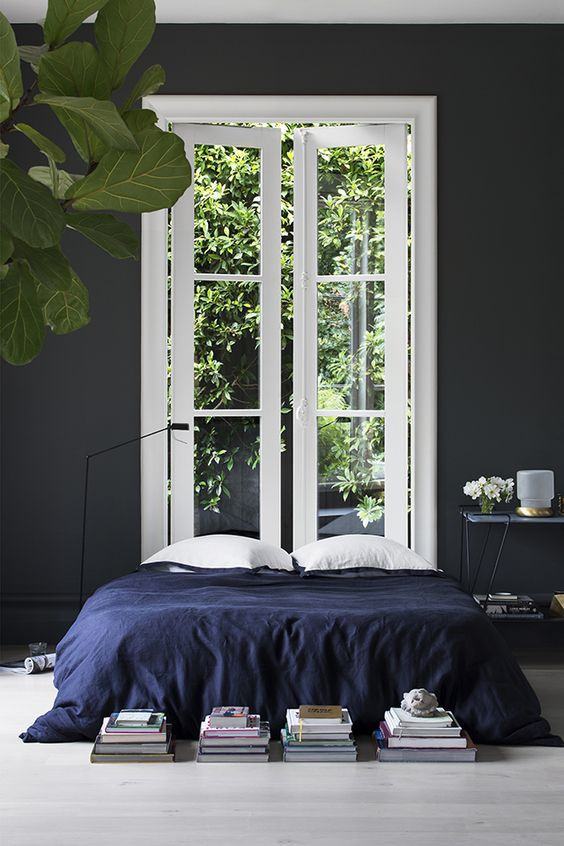 blue and grey bedroom on belle belle beauty