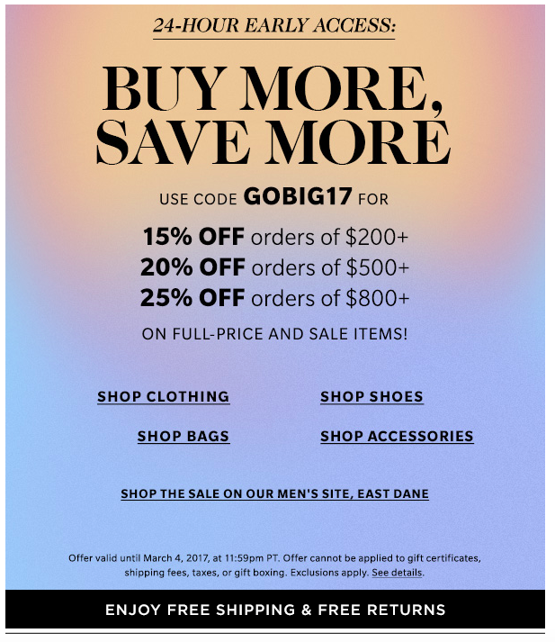 Shopbop Sale Alert on Belle Belle Beauty