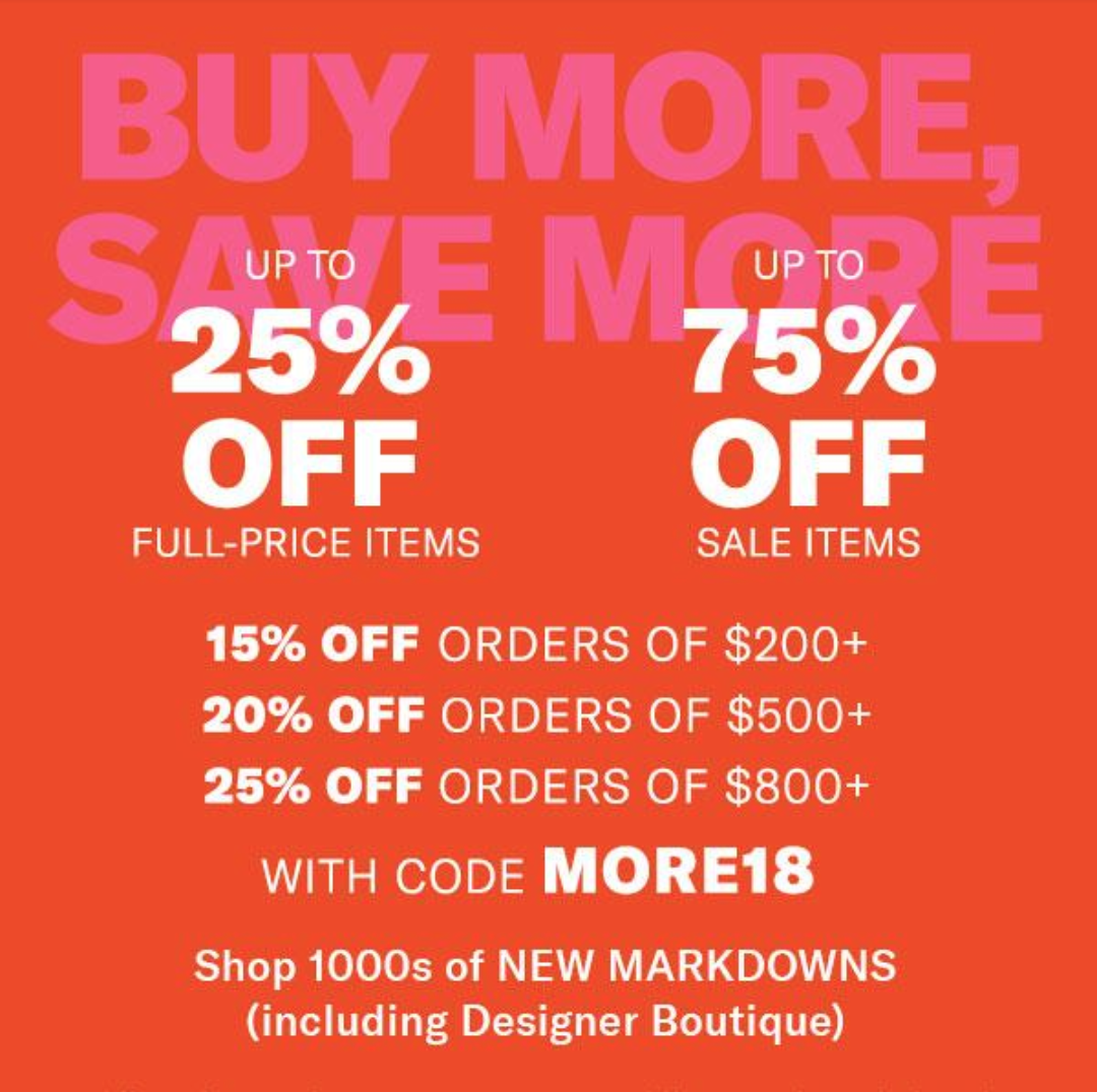 Thanksgiving Shopbop Sale on Belle Belle Beauty
